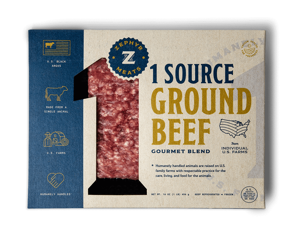 1 Source Ground Beef Package Front