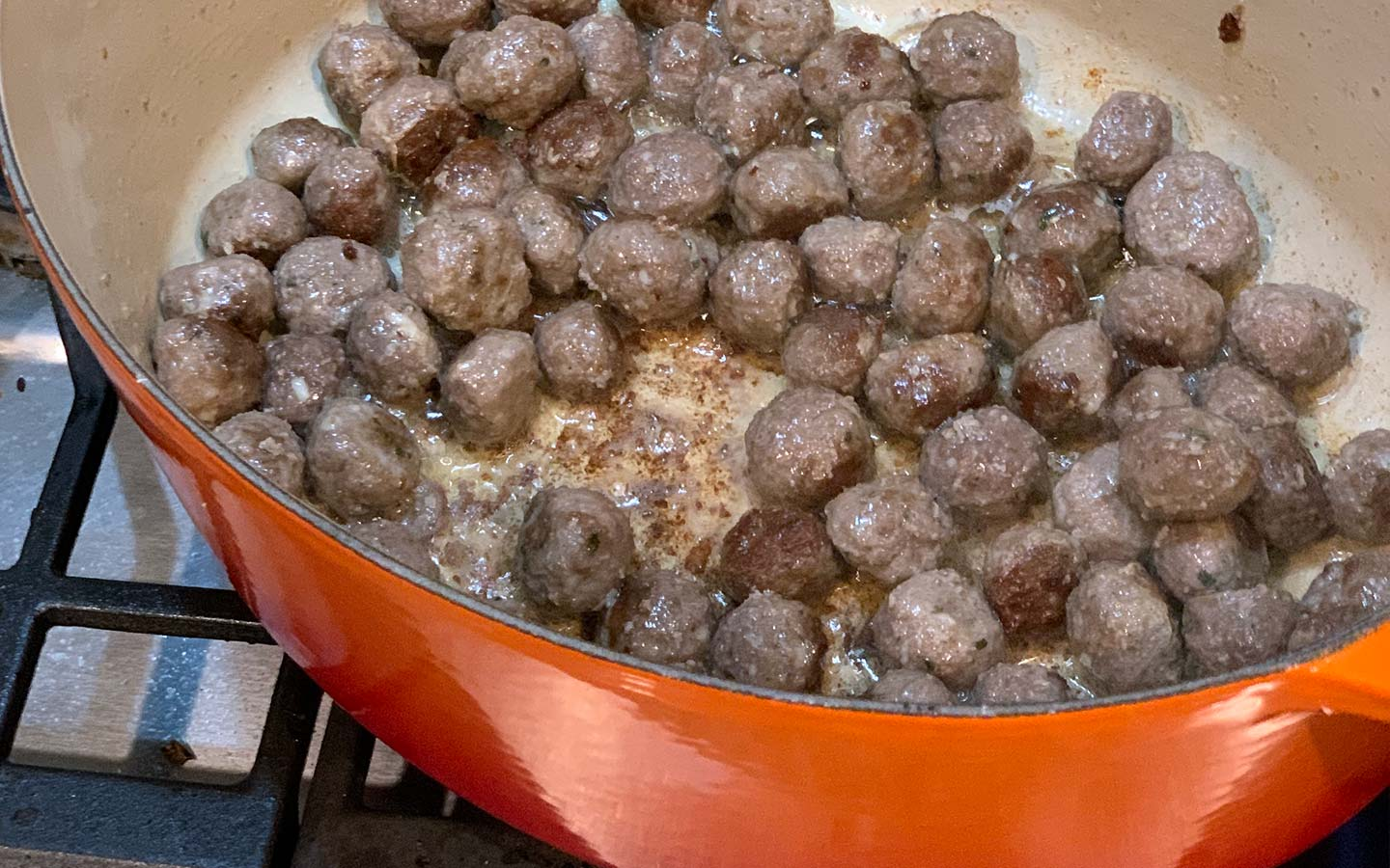 Italian Wedding Soup: Reverse sear meatballs.